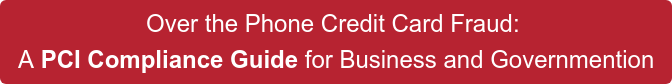 Over the Phone Credit Card Fraud:  A PCI Compliance Guide for Business and Governmention