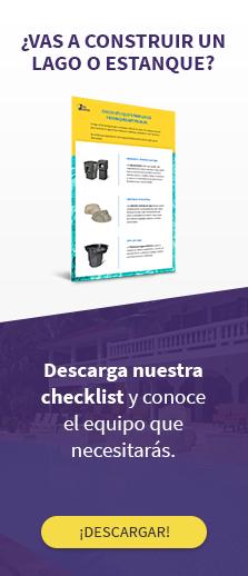 Descarga nuestra checklist de equipamiento para lagos y estanques.