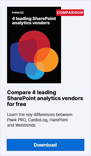 Compare 4 Leading SharePoint Analytics Vendors for Free