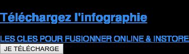 Téléchargez l'infographie  LES CLES POUR FUSIONNER ONLINE & INSTORE JE TÉLÉCHARGE