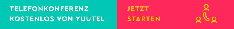 yuutel Conference: Die schlaue Telefonkonferenz-Lösung kostenlos & ohne Anmeldung