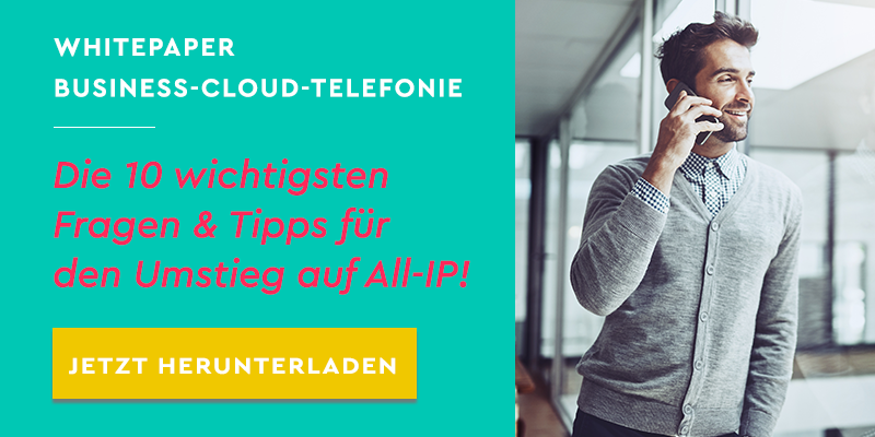 Whitepaper Business-Cloud-Telefonie: Die 10 wichtigsten Fragen & Tipps für den Umstieg auf All-IP!