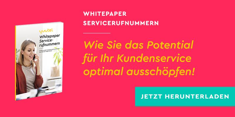 Whitepaper Servicerufnummern: Wie Sie das Potential für Ihr Kundenservice optimal ausschöpfen!