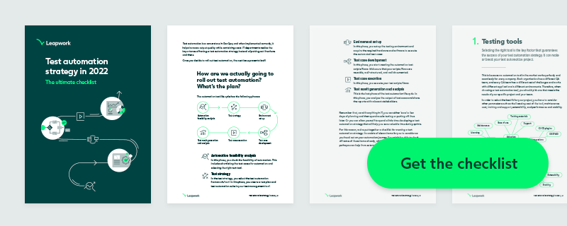 Download Test Automation Strategy Checklist