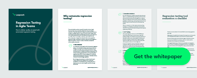 Download regression testing whitepaper