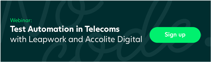 Test Automation in Telecoms