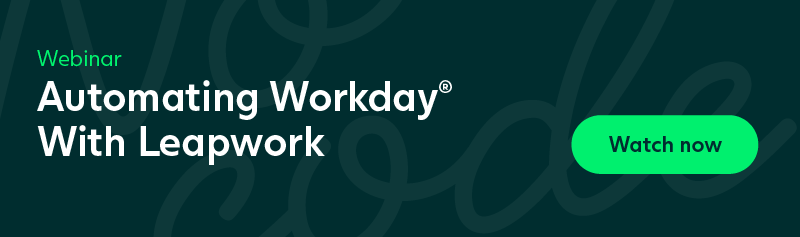 Watch Now - Webinar: Automating Workday