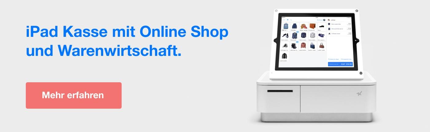 iPad Kasse mit Online Shop