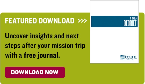 download mission trip debrief journal