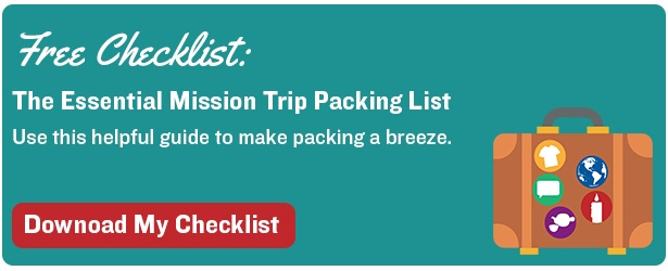 mission trip packing list download