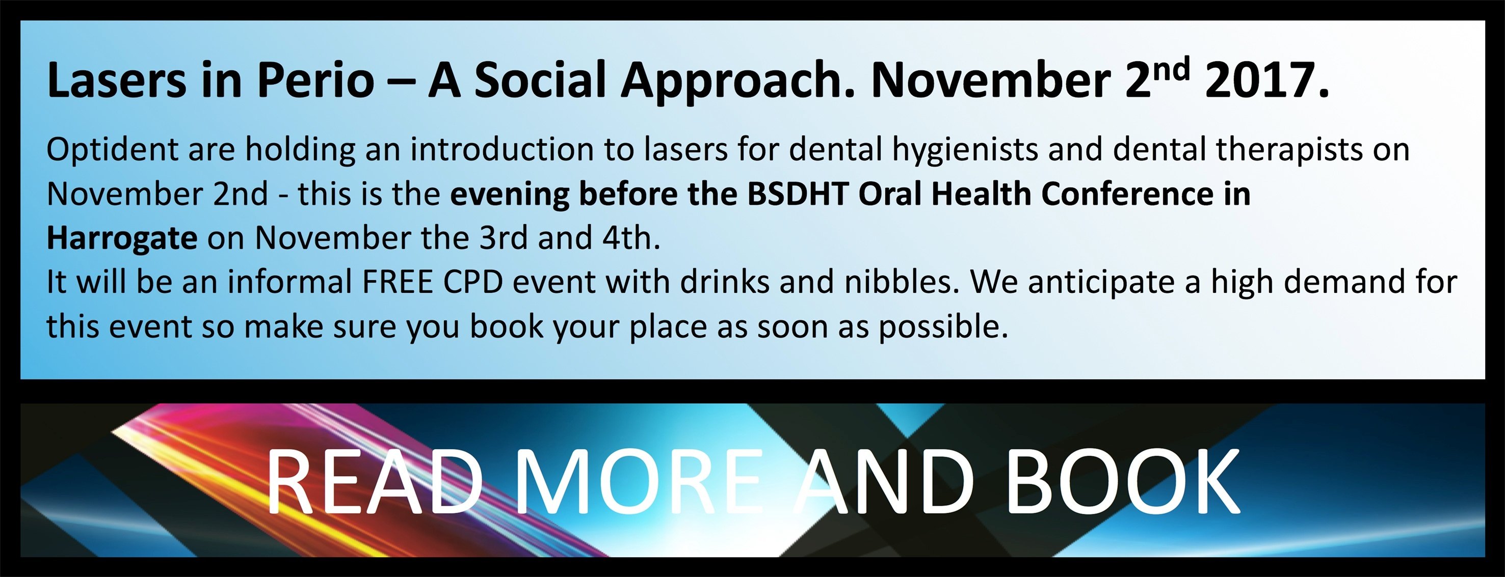 Lasers in Perio - A Social Approach. Lasers for dental hygienists and dental therapists