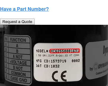 Have a Part Number? Request a Quote