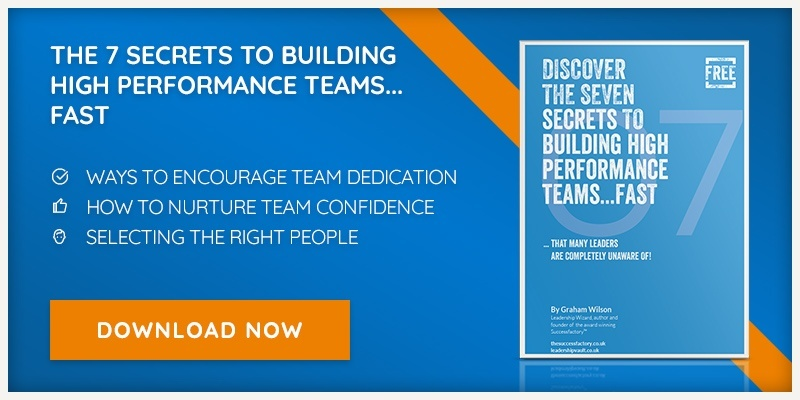 Download our free eBook - Seven Secrets to Building High Performance Teams - Fast!