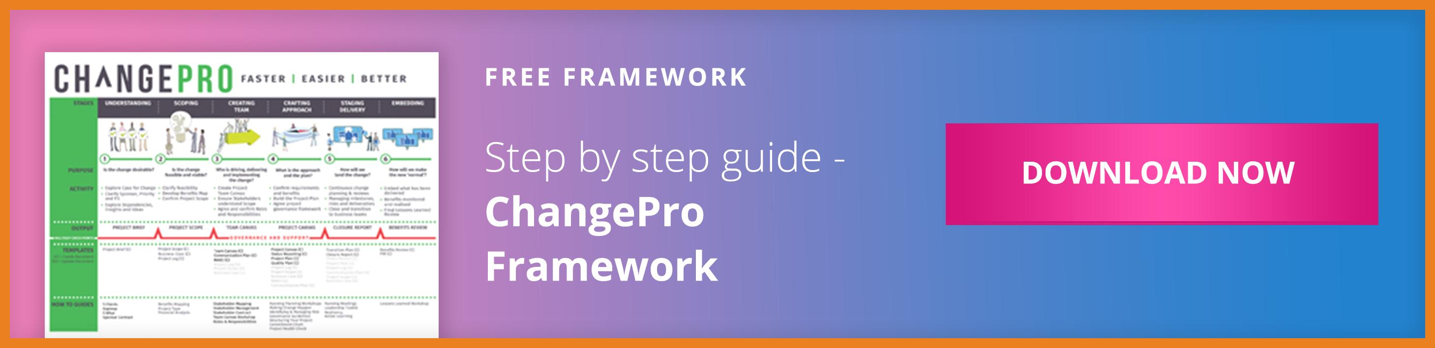 ChangePro Framework CTA