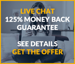 live chat money back guarantee offer