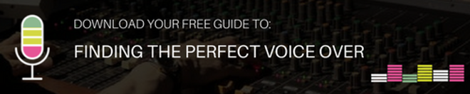Download your free guide to: Finding the perfect voice over