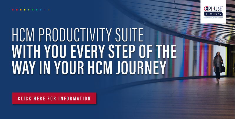 HCM Productivity Suite Webinars