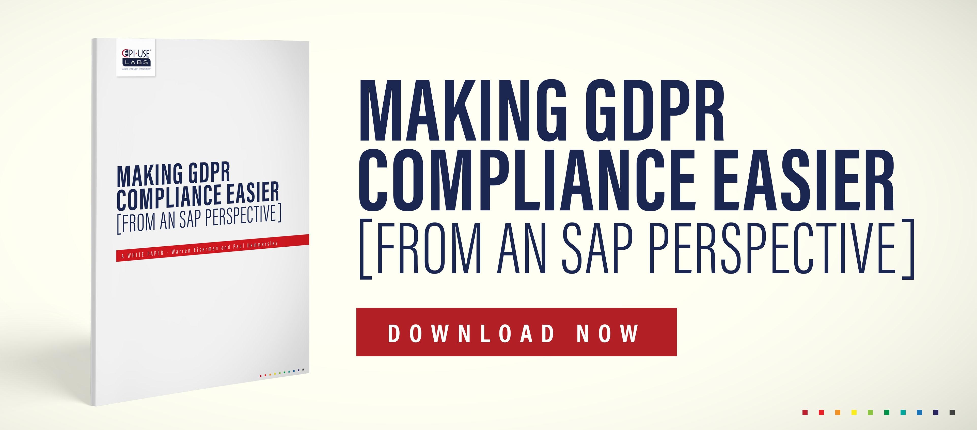Making GDPR Compliance easier