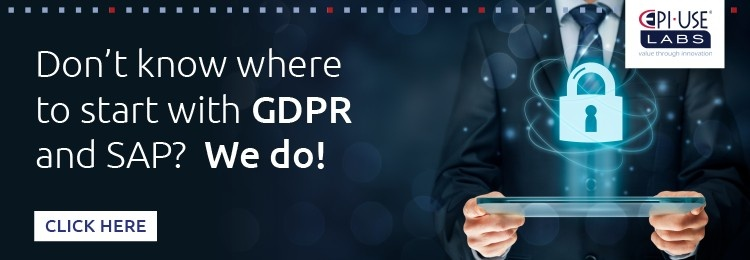 Don't know where to start with GDPR and SAP? We do!