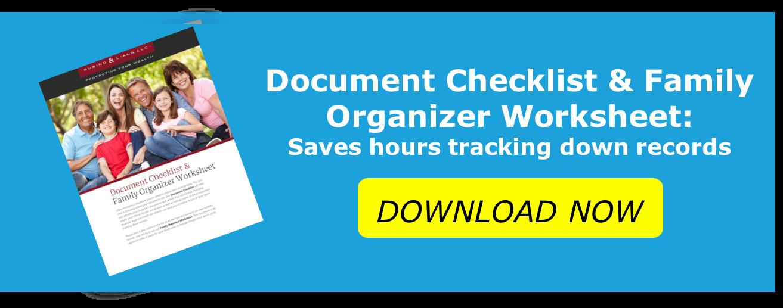 Family Organizer Worksheet