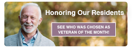 See who was chosen as veteran of the month!