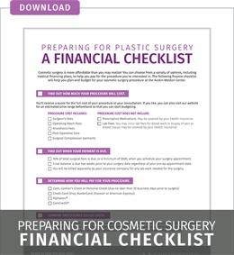 Download Plastic Surgery Financial Checklist