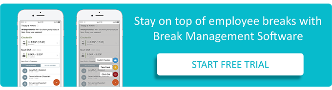 Manage employee work breaks with the help of a break app