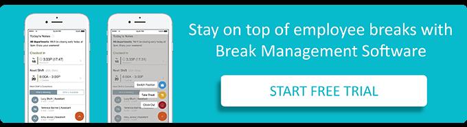 Manage employee work breaks with the help of a break app