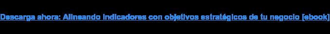 Descarga ahora: Alineando indicadores con objetivos estratégicos de tu negocio  [ebook]