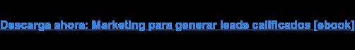 Descarga ahora: Marketing para generar leads calificados [ebook]