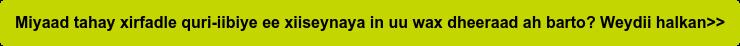 Miyaad tahay xirfadle quri-iibiye ee xiiseynaya in uu wax dheeraad ah barto?  Weydii halkan>>