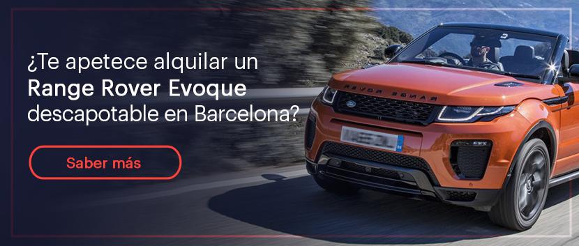¿Te apetece alquilar un range rover evoque descapotable en Barcelona?