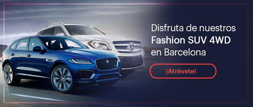 Disfruta de nuestros fashion SUV 4WD en Barcelona