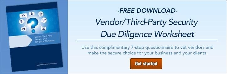Vendor/Third-Party Security Due Diligence Worksheet