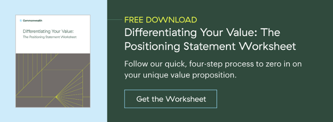 Differentiating Your Value: The Positioning Statement Worksheet