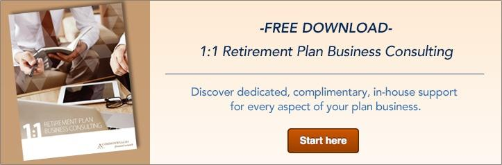 1:1 Retirement Plan Business Consulting