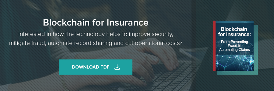 Blockchain for Insurance. Interested in technical helps to improve security, mitigate fraud