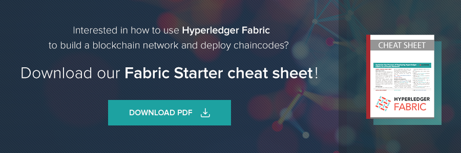 Interested in how to use Hyperledger Fabric to build network and deploy chaincodes? Download our Fabric Starter cheat sheet!