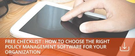 how to choose the right policy management software