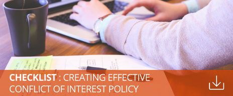 conflict of interest disclosure policy checklist download