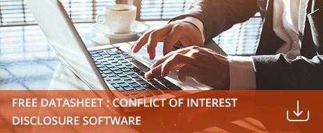 conflict of interest disclosure software datasheet