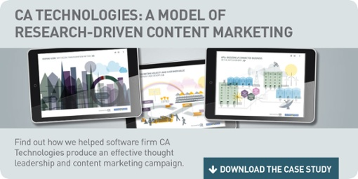 Ca Technologies case study- research-driven content marketing