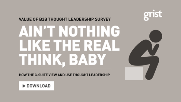 Download the Value of B2B thought leadership survey