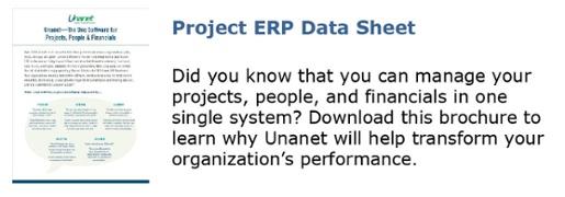 Unanet Project ERP Data Sheet