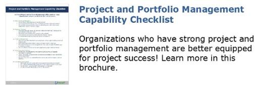 Project and Portfolio Management Capability Checklist Brochure