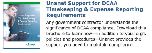 Unanet Support for DCAA Timekeeping & Expense Reporting Requirements