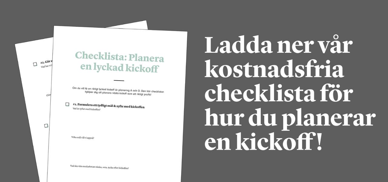 Checklista: Planera en lyckad kickoff