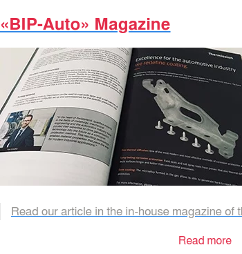 «BIP-Auto» Magazine   Read our article in the in-house magazine of the PSA Group. The BIP-Auto  magazine is distributed several times a year to the various plants and  suppliers. Read more