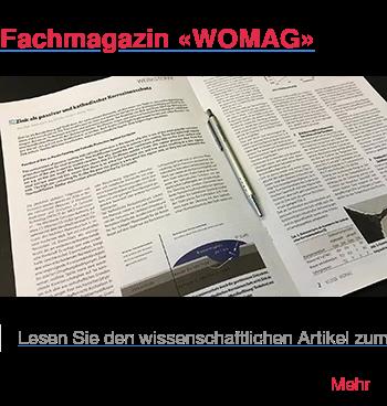 """Fachmagazin «WOMAG»   Lesen Sie den wissenschaftlichen Artikel zum Thema """"Zink al passiver und  kathodischer Korrosionsschutz"""" in der Fachzeitschrift für Kompetenz in  Werkstoff und funktioneller Oberfläche. Mehr"""