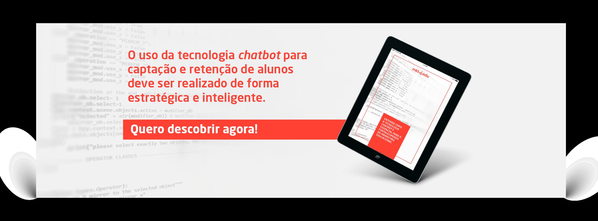 Tecnologia chatbot no marketing educacional